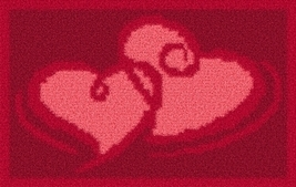 Latch Hook Rug Pattern Chart: Valentine Special - EMAIL2u - $5.75