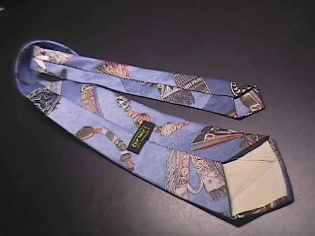 Corsair Neck Tie Background of Blues with Native American Icons