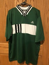 ADIDAS Men's Green Soccer Rugby Jersey Shirt Activewear Sz XL - $15.19