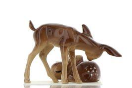 Hagen Renaker Miniature Deer Sister Doe & Sleeping Fawn Ceramic Figurine Set image 6