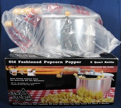 Atwoods Back at the Ranch Kettle Popcorn Popper Hand Crank Stir Paddle 5 Qt - $36.62