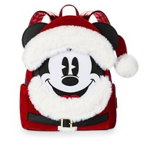 Disney Parks Santa Mickey Mouse Loungefly Mini Backpack - New - $123.75