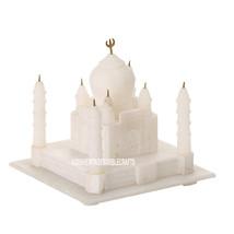 5'' White Marble Agra Taj Mahal Handicrafts Arts Replica Handmade Decor Gifts - $73.44