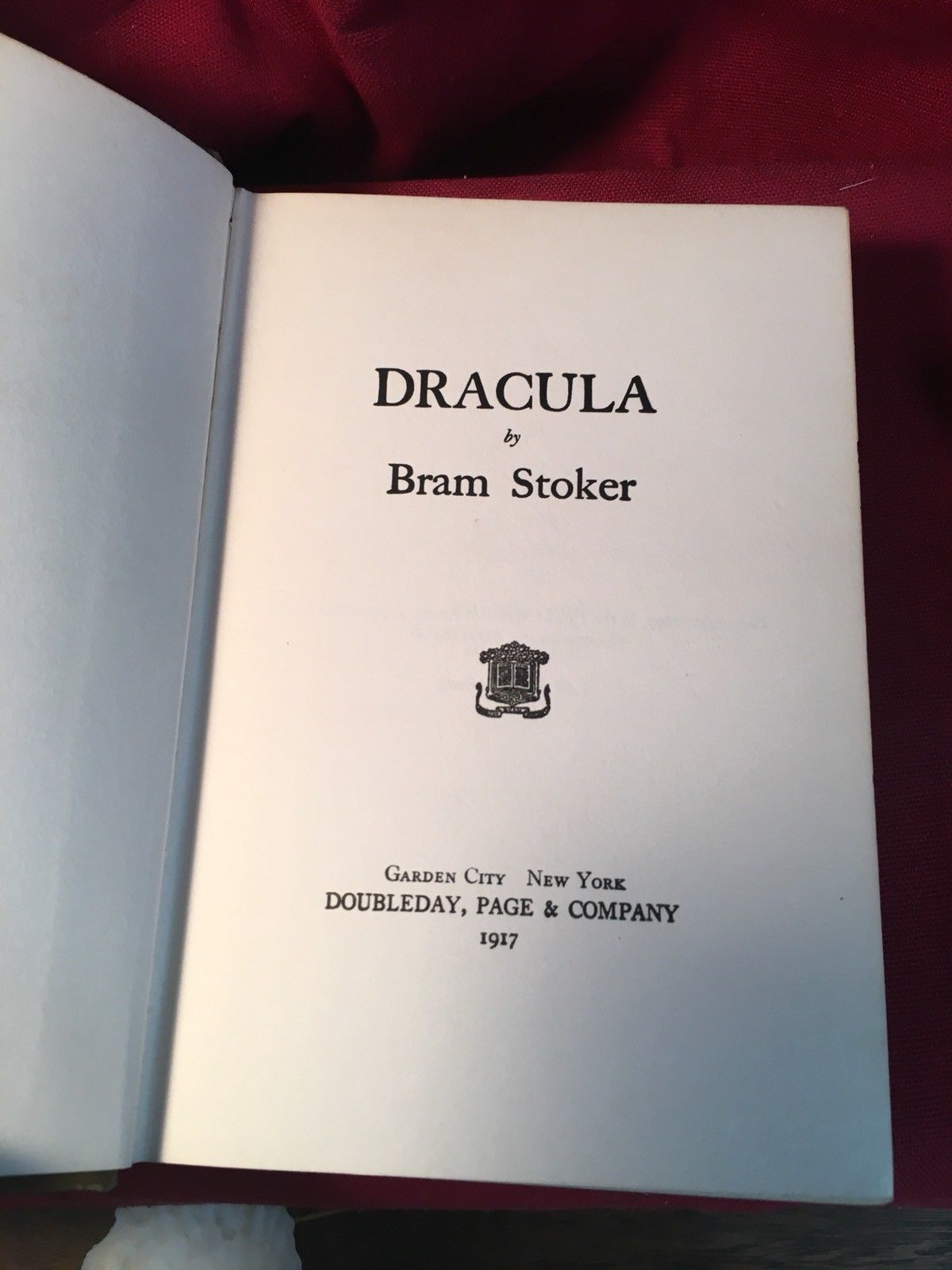 DRACULA by Bram Stoker. Early Doubleday hardback with Decorative Cover