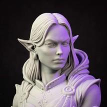 Elf - Woman - Bust - 3D - Printed HQ - Resin Miniature - Unpainted - Dungeons an - $19.99