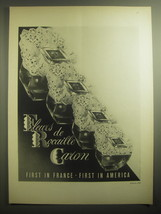 1959 Caron Fleurs de Rocaille Perfume Ad - First in France - First in America - $14.99