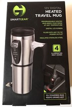 SmartGear Stainless Steel Travel Mug 12v Auto Power Plug Digital Heated ... - $22.24