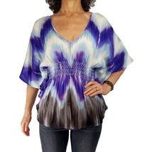 GUESS by MARCIANO S/M Silk Blend Shibori Tie Dye Hippy Boho Hippie Butte... - $19.80