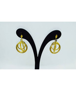 9ct Yellow Gold Dangle Earrings Diamond and Sphere - 2 Styles - $123.49