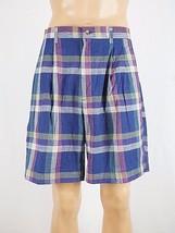 Men's COLOURS BY ALEXANDER JULIAN 100% Cotton Multi-Color Plaid Shorts N... - $11.64