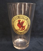 Guinness Extra Stout Beer Glass Rare Cockatrice Logo T.F Ashe & Nephew L... - $15.88