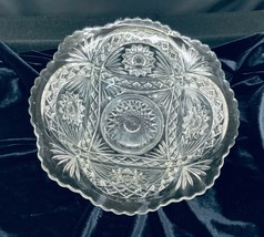 Vintage Imperial Glass Crystal Large Fruit Bowl - $32.00