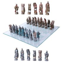 King Arthur Legend Merlin Dragons And Magic Hand Painted Resin Chess Pieces With - $79.19
