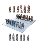 King Arthur Legend Merlin Dragons And Magic Hand Painted Resin Chess Pie... - $79.19