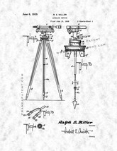 Leveling Device Patent Print - Gunmetal - $7.95+