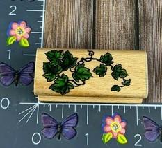 StampCraft Ivy Leafy Plant Rubber Stamp 440D18 Wood #N51 - $3.47