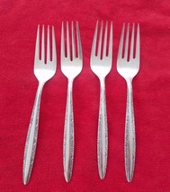 Set of 4 Candleglow Silverplate by Towle Salad Forks (#1501) - $33.15