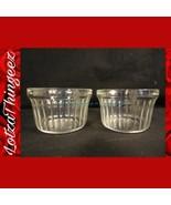 Hazel Atlas Glass Custard Dishes Lot of 2 Clear - $9.90
