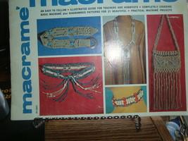 Hazel Pearson MACRAME Easy to follow pattern book  HP400  1971 - $3.96