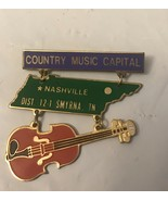 Country Music Capital Nashville Pin - $9.50
