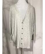 Emma & ASam Grey Slouchy Cardigan Size Small - $38.61