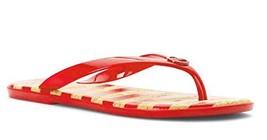 MICHAEL Michael Kors Women's Jet Set MK Jelly Grenadine PVC/Stripe Sandals (9)