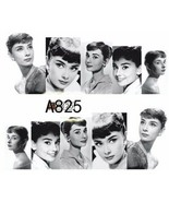 Water Transfer Watermark Art Nails Decal Sticker Audrey Hepburn A825 - $1.73