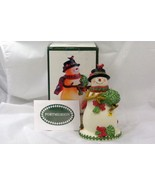 Portmeirion 2010 Mistletoe Snowman Tea Light Botanic Gardens - $35.90