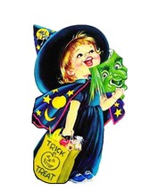 Trick or Treat Little Witch Halloween Metal Sign - $33.96