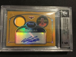 2007-08 Bowman Gold Refractor Dominique Wilkins GU Patch Auto #'d 25/25 BGS 9 - $159.97