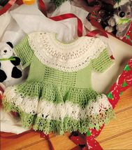 f2cab6567 Knit Crochet Baby Dress Mop Hat Mitts Bootie and 13 similar items