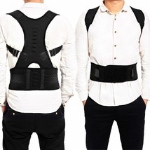 Adjustable Posture Back Corrector Support Shoulder Belts Braces Magnetic Therapy - $15.38