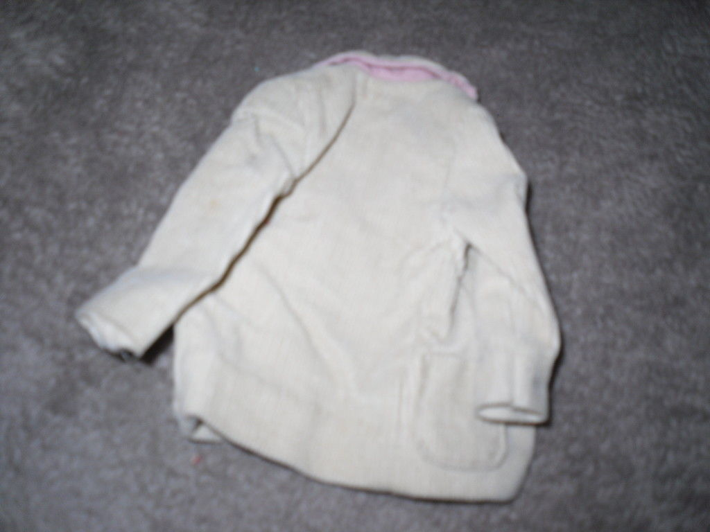 Mattel Barbie Doll Clothes - Ken Pak Corduroy Jacket - 1962 BW Label image 3