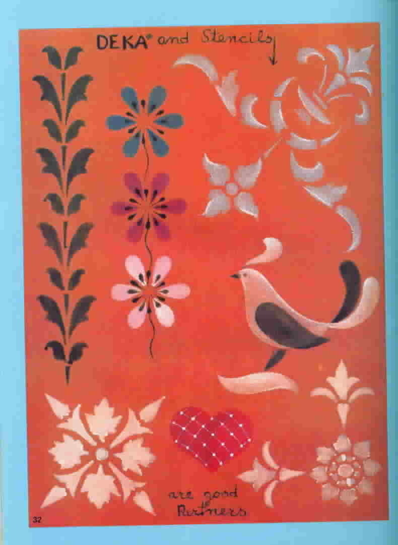 Vintage Fabric Art with Deka by Herta, First Edition