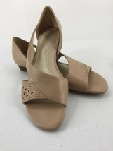 "Naturalizer 9M Shoes N5 Comfort Sandals Wedge Toeless Beige ""Jayes""  - $14.01"