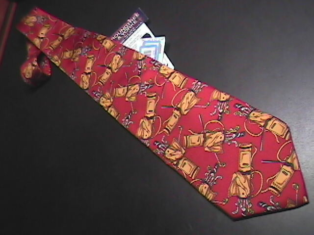 Tie roundtree   yorke red   gold golf new with tag 02