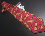 Tie roundtree   yorke red   gold golf new with tag 02 thumb155 crop