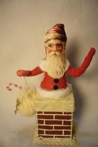 Vintage Inspired Spun Cotton, Chimney Santa, no. 89A image 3