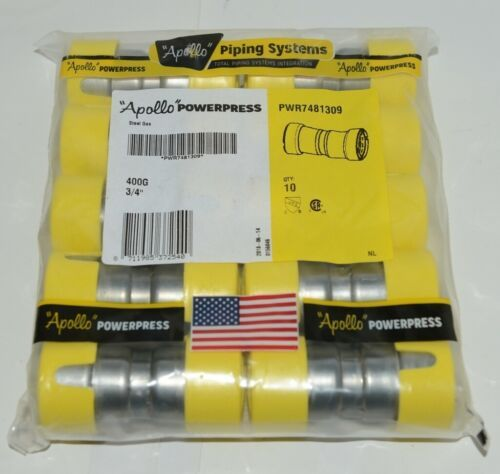 Apollo PWR7481309 Carbon Steel 3/4 Inch Gas Coupling Stop Bag of 10