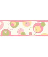 Wobbles Pink Geometric Toss Wallpaper Border Chesapeake BBC46431B - $20.99