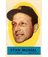 1963 stan musial topps peel of st louis cardinals baseball sticker rare ... - $59.99