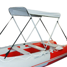 Portable Bimini Top Cover Canopy For Inflatable Kayak Canoe Boat (2 bow) - $119.00