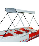Portable Bimini Top Cover Canopy For Inflatable Kayak Canoe Boat (2 bow) - $109.00