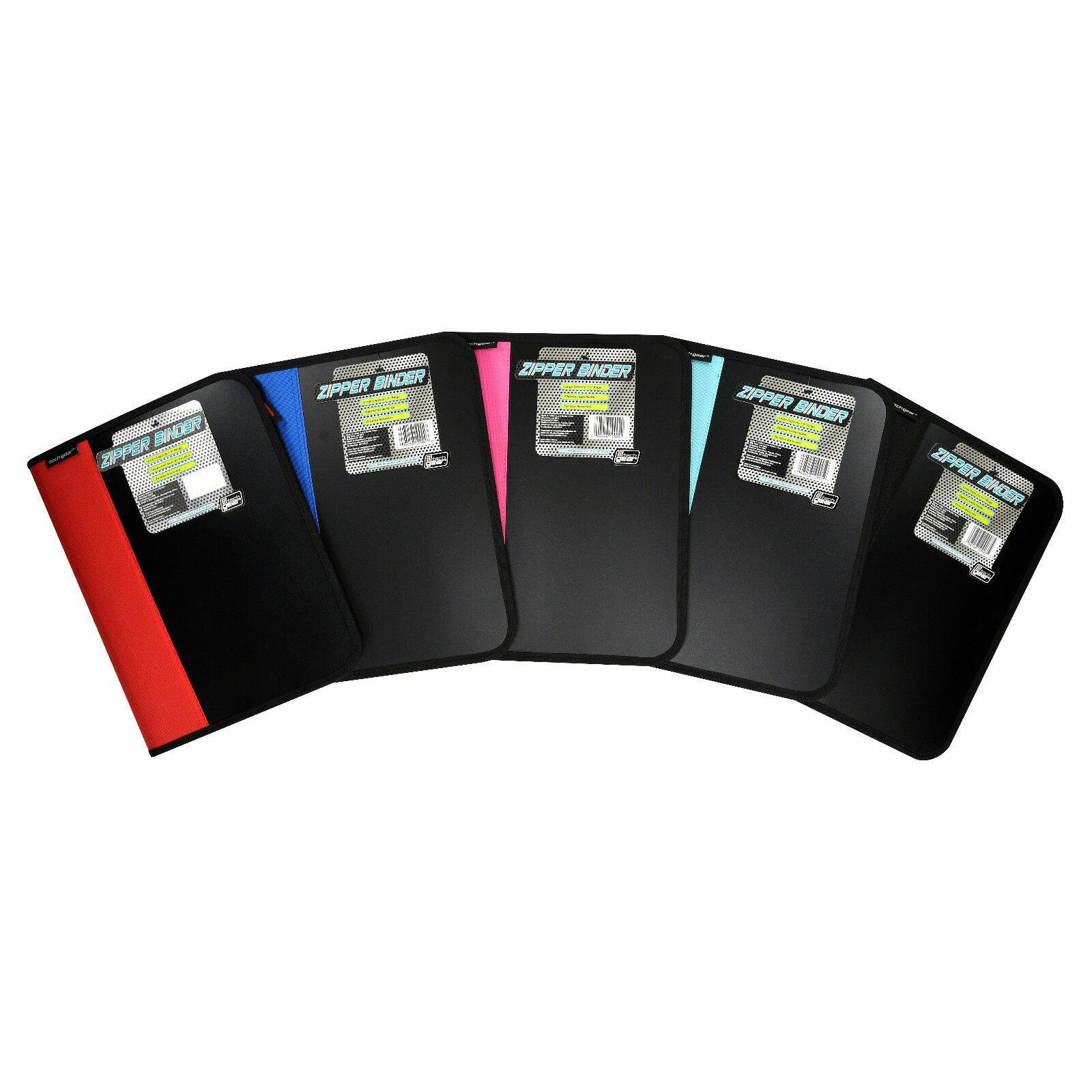 """Tech Gear Zipper Binder 1.5"""" 3 Ring Inside Zipper Pocket"""