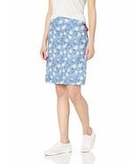 Skhoop Women's Frida Knee Skirt, Blue, X-Large - $62.49