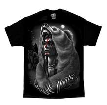 DGA David Gonzales Art Hunter Native American Indian Biker Punk Mens Shirt M-5XL - $25.25