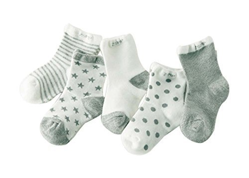 Five Pairs Summer Thin Section Mesh Cotton GRAY Baby Socks