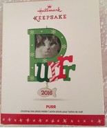 Purr 2016 Hallmark Ornament  Cat  Kitten  Photo Holder  Snowflakes  2016... - $14.99
