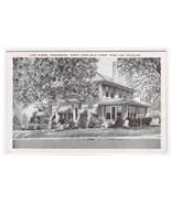 Lake Manor Greensboro North Carolina linen postcard - $5.45