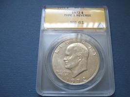 Eisenhower Dollar , 1972 MS 61  Type 1 Reverse - $15.00